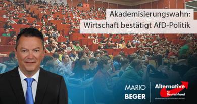 Akademisierungswahn: Wirtschaft bestätigt AfD-Politik