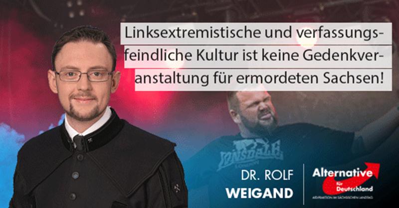 Linksextremistische und verfassungsfeindliche Kultur ist keine Gedenkveranstaltung für ermordeten Sachsen!