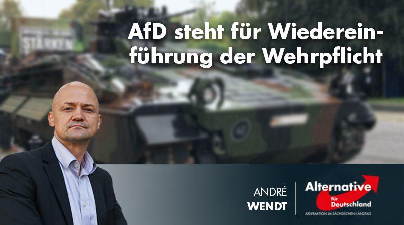 AfD steht für Wiedereinführung der Wehrpflicht