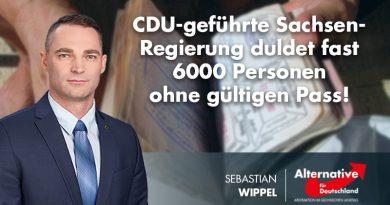 CDU-geführte Sachsen-Regierung duldet fast 6000 Personen ohne gültigen Pass!