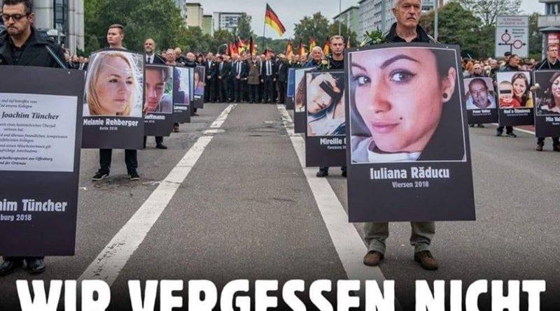 Trauermarsch in Chemnitz