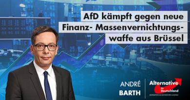 AfD kämpft gegen neue Finanz- Massenvernichtungswaffe aus Brüssel