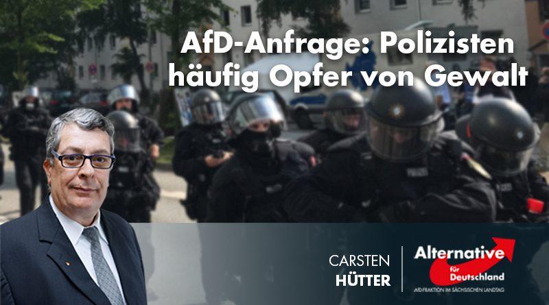AfD-Anfrage: Polizisten häufig Opfer von Gewalt