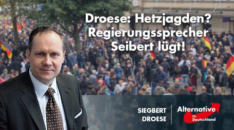 Droese: Hetzjagden? Regierungssprecher Seibert lügt!