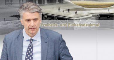 Alberne Einheitswippe in Berlin stoppen