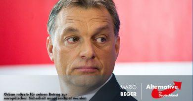 Orban müsste für seinen Betrag zur europäischen Sicherheit ausgezeichnet werden