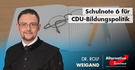 Schulnote 6 für CDU-Bildungspolitik