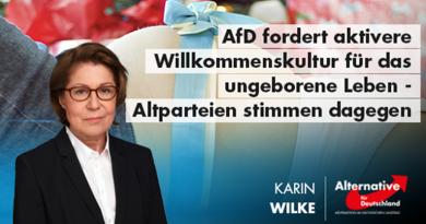 AfD fordert aktivere Willkommenskultur für das ungeborene Leben - Altparteien stimmen dagegen