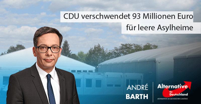 CDU verschwendet 93 Millionen Euro für leere Asylheime