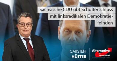 Sächsische CDU übt Schulterschluss mit linksradikalen Demokratiefeinden