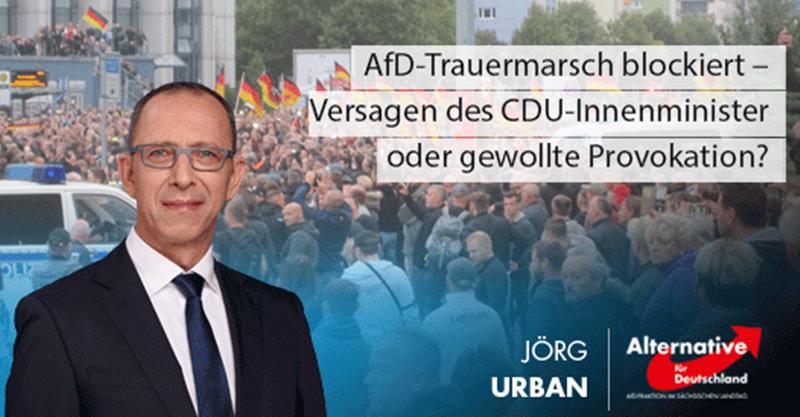 AfD-Trauermarsch blockiert – CDU-Innenminister versagt