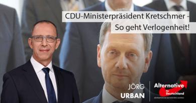 CDU-Ministerpräsident Kretschmer - So geht Verlogenheit!