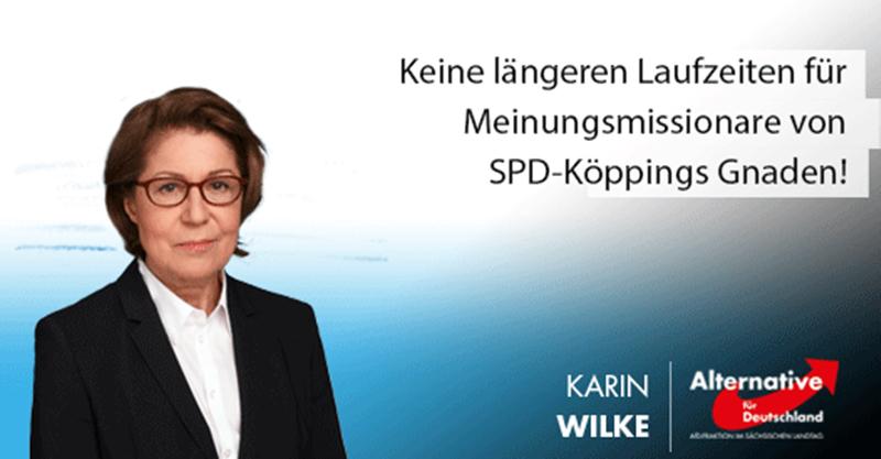 Keine längeren Laufzeiten für Meinungsmissionare von SPD-Köppings Gnaden!
