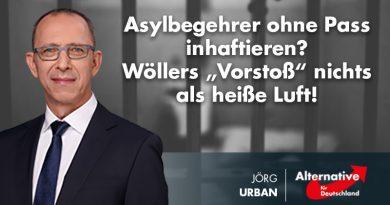 """Asylbegehrer ohne Pass inhaftieren?  Wöllers """"Vorstoß"""" nichts als heiße Luft!"""