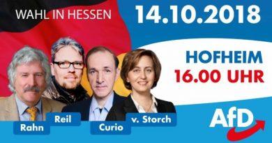 Hessenwahl: Rahn, Storch, Junge am 14.10. in Hofheim, 16 Uhr