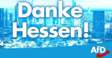 AfD wird mit 12,8 Prozent (Stand 20 Uhr) in den Hessischen Landtag einziehen.