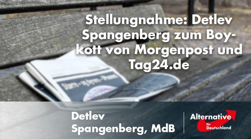 Stellungnahme: Detlev Spangenberg zum Boykott von Morgenpost und Tag24.de