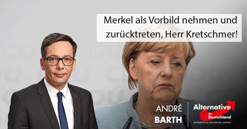 Merkel als Vorbild nehmen und zurücktreten, Herr Kretschmer!
