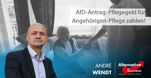 AfD-Antrag: Leistungen pflegender Angehöriger besser honorieren