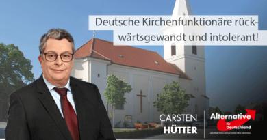 Deutsche Kirchenfunktionäre rückwärtsgewandt und intolerant!