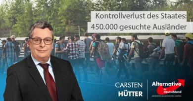 Kontrollverlust des Staates: 450.000 gesuchte Ausländer