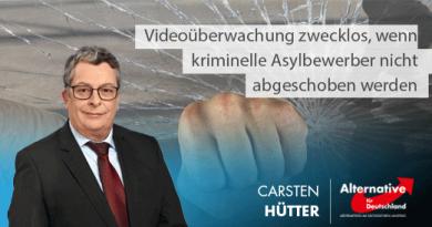 Videoüberwachung zwecklos, wenn kriminelle Asylbewerber nicht abgeschoben werden