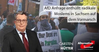 AfD Anfrage enthüllt: radikale Moslems in Sachsen auf dem Vormarsch