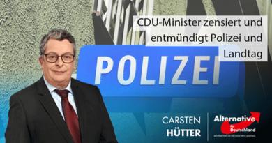 CDU-Minister zensiert und entmündigt sächsische Polizei und Abgeordnete aller Parteien