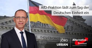 AfD-Fraktion lädt zum Tag der Deutschen Einheit ein