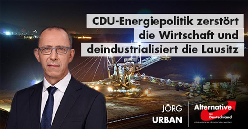 CDU-Energiepolitik zerstört die Wirtschaft und deindustrialisiert die Lausitz