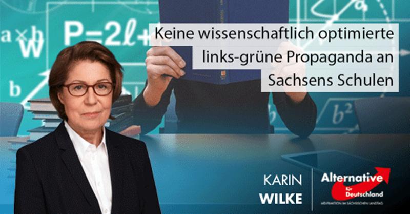Keine wissenschaftlich optimierte links-grüne Propaganda an Sachsens Schulen