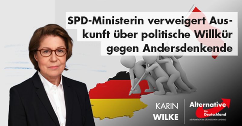 SPD-Ministerin verweigert Auskunft über politische Willkür gegen Andersdenkende