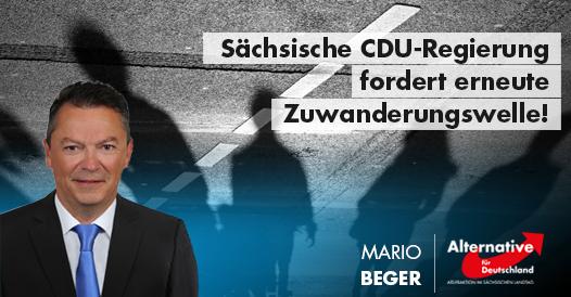 Sächsische CDU-Regierung fordert erneute Zuwanderungswelle