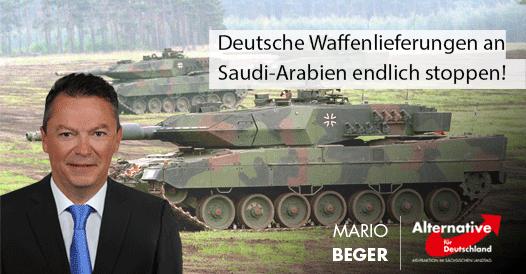 Deutsche Waffenlieferungen an Saudi-Arabien endlich stoppen!