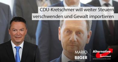 CDU-Ministerpräsident Kretschmer will weiter Steuern verschwenden und Gewalt importieren