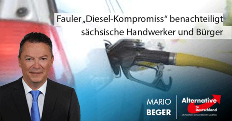 """Fauler """"Diesel-Kompromiss"""" benachteiligt sächsische Handwerker und Bürger"""