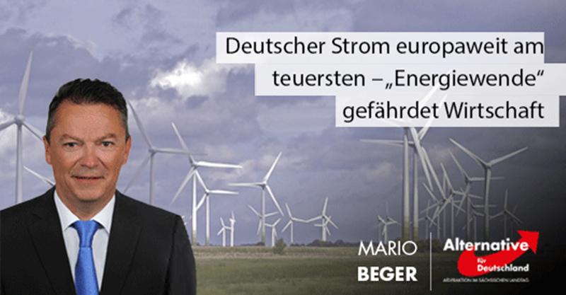 """Deutscher Strom europaweit am teuersten – """"Energiewende"""" gefährdet Wirtschaft"""