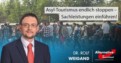 Asyl-Tourismus endlich stoppen – Sachleistungen einführen!