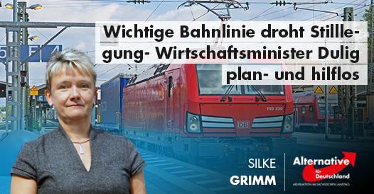 Wichtige Bahnlinie droht Stilllegung- Wirtschaftsminister Dulig plan- und hilflos