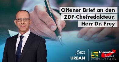 Offener Brief an den ZDF-Chefredakteur, Herr Dr. Frey