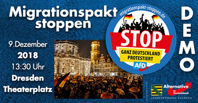 Heraus zur AfD-Demonstration gegen den Migrationspakt - Es ist fünf vor Zwölf!