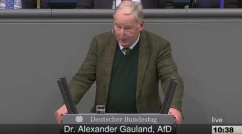 Gauland begründet die Ablehnung des Migrationspaktes durch die AfD im Bundestag