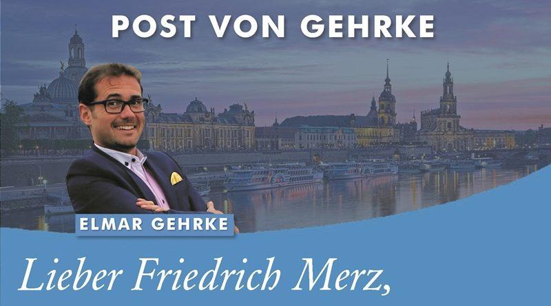 Post von Gehrke - Friedrich Merz