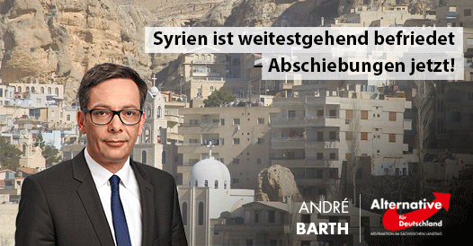 Syrien ist weitestgehend befriedet – Abschiebungen jetzt