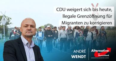 CDU weigert sich bis heute, illegale Grenzöffnung für Migranten zu korrigieren