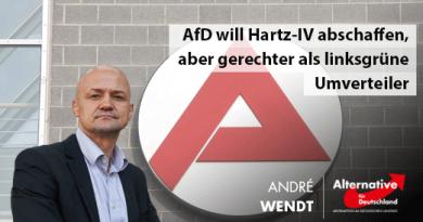 Auch die AfD will Hartz-IV in dieser Form abschaffen, aber gerechter