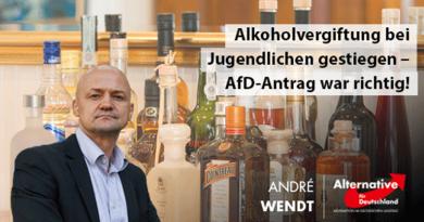 Alkoholvergiftung bei Jugendlichen gestiegen – AfD-Antrag war richtig