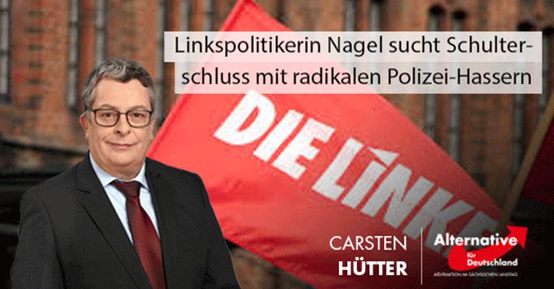 Linkspolitikerin Nagel sucht Schulterschluss mit radikalen Polizei-Hassern