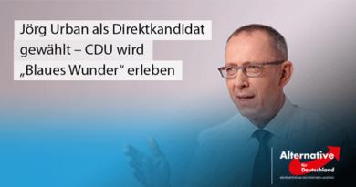 """Jörg Urban als Direktkandidat gewählt – CDU wird """"Blaues Wunder"""" erleben"""