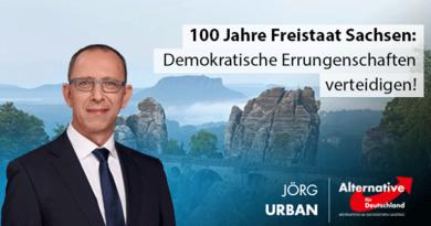 100 Jahre Freistaat Sachsen: Demokratische Errungenschaften verteidigen